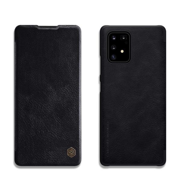 Θήκη Samsung Galaxy S10 Lite NiLLkin Qin Series με υποδοχή για κάρτες Flip Wallet από σκληρό πλαστικό και συνθετικό δέρμα μαύρο