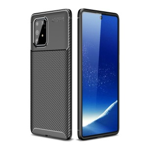 Θήκη Samsung Galaxy S10 Lite OEM Brushed TPU Carbon Πλάτη μαύρο