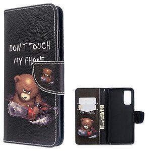 Θήκη Samsung Galaxy S20 OEM Angry bear with chainsaw με βάση στήριξης