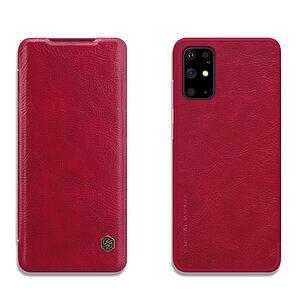 Θήκη Samsung Galaxy S20 Plus NiLLkin Qin Series με υποδοχή για κάρτες Flip Wallet από σκληρό πλαστικό και συνθετικό δέρμα κόκκινο