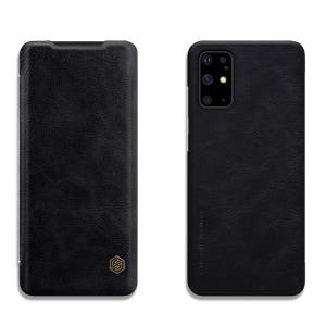 Θήκη Samsung Galaxy S20 Plus NiLLkin Qin Series με υποδοχή για κάρτες Flip Wallet από σκληρό πλαστικό και συνθετικό δέρμα μαύρο