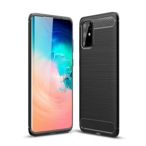 Θήκη Samsung Galaxy S20 Plus OEM Brushed TPU Carbon Πλάτη μαύρο
