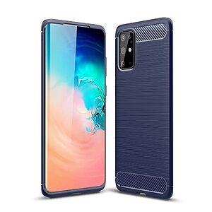Θήκη Samsung Galaxy S20 Plus OEM Brushed TPU Carbon Πλάτη μπλε