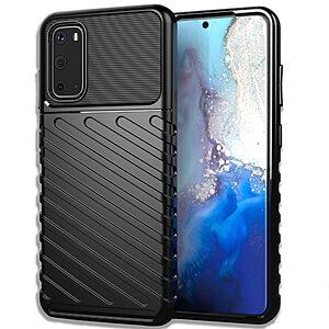 Θήκη Samsung Galaxy S20 OEM Thunder Series Πλάτη από ενισχυμένο TPU μαύρο