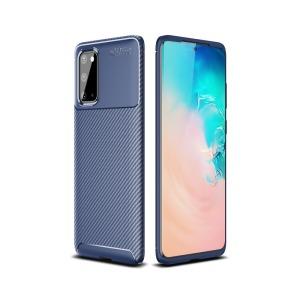 Θήκη Samsung Galaxy S20 OEM Brushed TPU Carbon Πλάτη μπλε