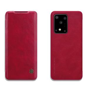 Θήκη Samsung Galaxy S20 Ultra NiLLkin Qin Series με υποδοχή για κάρτες Flip Wallet από σκληρό πλαστικό και συνθετικό δέρμα κόκκινο