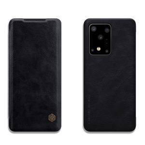 Θήκη Samsung Galaxy S20 Ultra NiLLkin Qin Series με υποδοχή για κάρτες Flip Wallet από σκληρό πλαστικό και συνθετικό δέρμα μαύρο