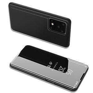 Θήκη Samsung Galaxy S20 Ultra OEM Mirror Surface View Stand Case Cover Flip Window μαύρο