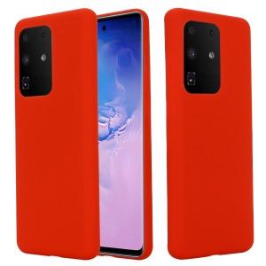 Θήκη Samsung Galaxy S20 Ultra OEM Soft Liquid Silicone Πλάτη σιλικόνης κόκκινο