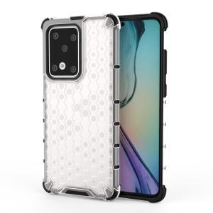 Θήκη Samsung Galaxy S20 Ultra OEM Honeycomb Series Πλάτη Hybrid Shock-Proof από ενισχυμένο πλαστικό και TPU λευκό