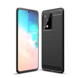 Θήκη Samsung Galaxy S20 Ultra OEM Brushed TPU Carbon Πλάτη μαύρο