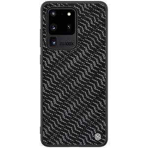 Θήκη Samsung Galaxy S20 Ultra NiLLkin Twinkle Series Waves Πλάτη Hybrid από συνθετικό δέρμα και TPU μαύρο / ασημί
