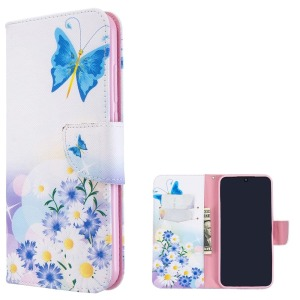 Θήκη Xiaomi Redmi Note 8T OEM Blue Butterfly & Flowers με βάση στήριξης