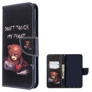 Θήκη Xiaomi Redmi Note 8T OEM Angry bear with chainsaw με βάση στήριξης