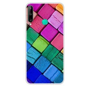 Θήκη Huawei P40 Lite E OEM σχέδιο Color Cubes με πλάτη TPU