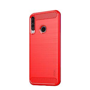Θήκη Huawei P40 Lite E MOFI Brushed TPU Carbon Πλάτη κόκκινο ανοιχτό