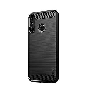 Θήκη Huawei P40 Lite E MOFI Brushed TPU Carbon Πλάτη μαύρο
