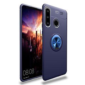 Θήκη Huawei P40 Lite E OEM Magnetic Ring Kickstand / Μαγνητικό δαχτυλίδι / Βάση στήριξης TPU μπλε