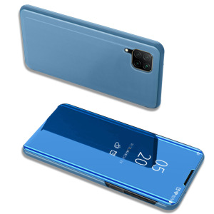 Θήκη Huawei P40 Lite OEM Mirror Surface View Stand Case Cover Flip Window γαλάζιο