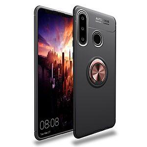 Θήκη Huawei P40 Lite OEM Magnetic Ring Kickstand / Μαγνητικό δαχτυλίδι / Βάση στήριξης TPU μαύρο / ροζ χρυσό