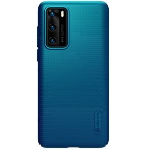Θήκη Huawei P40 NiLLkin Super Frosted Shield Series Πλάτη από Premium σκληρό πλαστικό μπλε