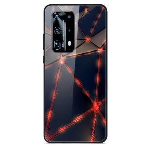Θήκη Huawei P40 OEM σχέδιο Iron Man Veins με πλάτη από Tempered Glass και εσωτερικό TPU
