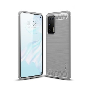 Θήκη Huawei P40 MOFI Brushed TPU Carbon Πλάτη γκρι