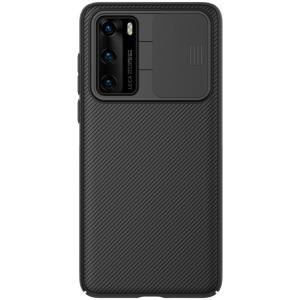 Θήκη Huawei P40 NiLLkin Camshield Series Πλάτη με προστασία για την κάμερα από σκλήρό Premium TPU μαύρο