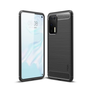 Θήκη Huawei P40 MOFI Brushed TPU Carbon Πλάτη μαύρο