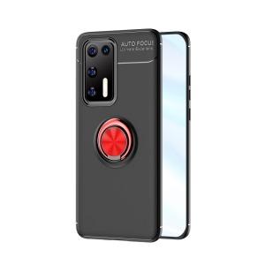 Θήκη Huawei P40 OEM Magnetic Ring Kickstand / Μαγνητικό δαχτυλίδι / Βάση στήριξης TPU μαύρο / κόκκινο