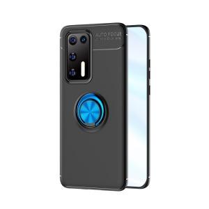 Θήκη Huawei P40 OEM Magnetic Ring Kickstand / Μαγνητικό δαχτυλίδι / Βάση στήριξης TPU μαύρο / μπλε