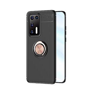 Θήκη Huawei P40 OEM Magnetic Ring Kickstand / Μαγνητικό δαχτυλίδι / Βάση στήριξης TPU μαύρο / ροζ χρυσό
