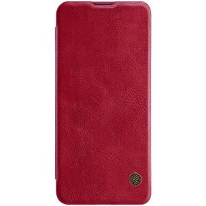 Θήκη Xiaomi Mi 10 / Mi 10 Pro NiLLkin Qin Series με υποδοχή για κάρτες Flip Wallet από σκληρό πλαστικό και συνθετικό δέρμα κόκκινο
