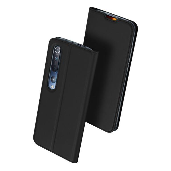 υποδοχή καρτών και μαγνητικό κούμπωμα Flip Wallet από συνθετικό δέρμα και TPU μαύρο