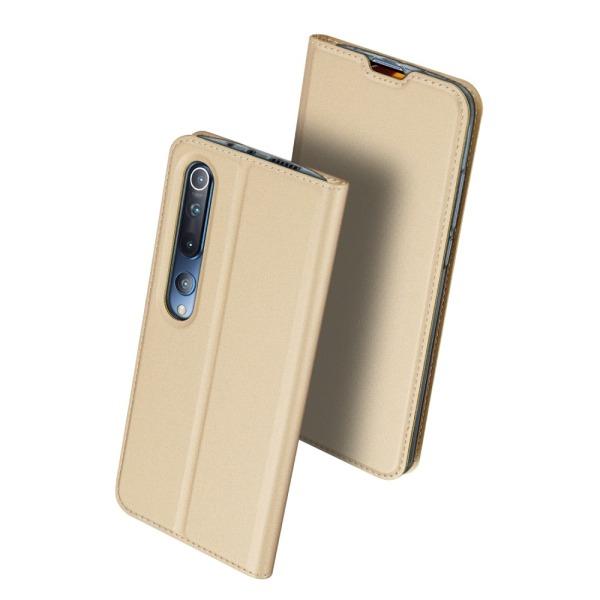 υποδοχή καρτών και μαγνητικό κούμπωμα Flip Wallet από συνθετικό δέρμα και TPU χρυσό