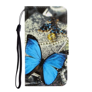 Θήκη Xiaomi Redmi Note 9S OEM Big Blue Butterfly με βάση στήριξης