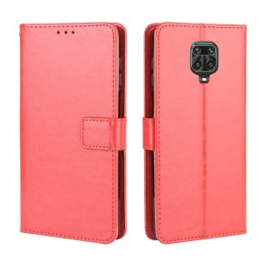 Θήκη Xiaomi Redmi Note 9S OEM Crazy Horse Leather με βάση στήριξης