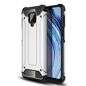 Θήκη Xiaomi Redmi Note 9S OEM Armor Guard Hybrid Πλάτη από σκληρό πλαστικό και TPU ασημί