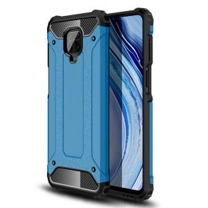 Θήκη Xiaomi Redmi Note 9S OEM Armor Guard Hybrid Πλάτη από σκληρό πλαστικό και TPU γαλάζιο