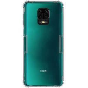 Θήκη Xiaomi Redmi Note 9S NiLLkin Nature Series 0.6mm Πλάτη TPU γκρι διάφανο