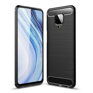 Θήκη Xiaomi Redmi Note 9S OEM Brushed TPU Carbon Πλάτη μαύρο