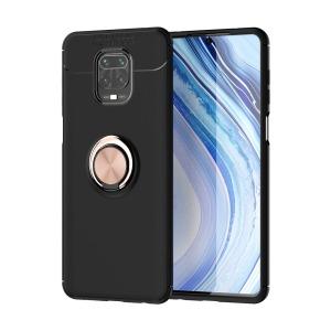 Θήκη Xiaomi Redmi Note 9S OEM Magnetic Ring Kickstand / Μαγνητικό δαχτυλίδι / Βάση στήριξης TPU μαύρο / ροζ χρυσό