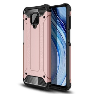 Θήκη Xiaomi Redmi Note 9S OEM Armor Guard Hybrid Πλάτη από σκληρό πλαστικό και TPU ροζ χρυσό