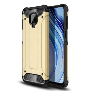 Θήκη Xiaomi Redmi Note 9S OEM Armor Guard Hybrid Πλάτη από σκληρό πλαστικό και TPU χρυσό