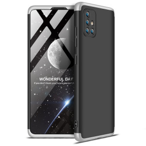 Θήκη GKK Full body Protection 360° από σκληρό πλαστικό για  Samsung Galaxy A71 μαύρο / ασημί