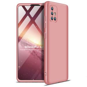 Θήκη GKK Full body Protection 360° από σκληρό πλαστικό για  Samsung Galaxy A71 ροζ χρυσό
