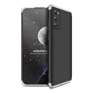Θήκη GKK Full body Protection 360° από σκληρό πλαστικό για  Samsung Galaxy S20 μαύρο / ασημί