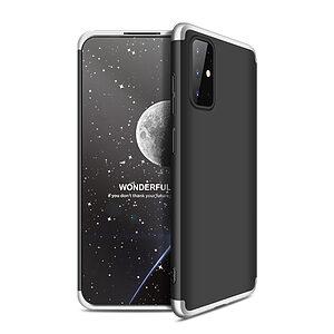 Θήκη GKK Full body Protection 360° από σκληρό πλαστικό για  Samsung Galaxy S20 Plus μαύρο / ασημί