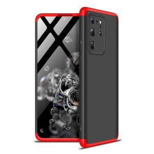Θήκη GKK Full body Protection 360° από σκληρό πλαστικό για  Samsung Galaxy S20 Ultra μαύρο / κόκκινο