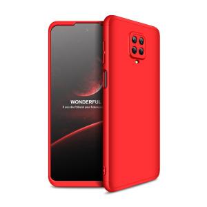 Θήκη GKK Full body Protection 360° από σκληρό πλαστικό για  Xiaomi Redmi Note 9s / Note 9 Pro / Note 9 Pro Max κόκκινο